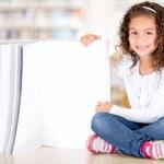 Little girl with a book Little girl with a book — Stock Photo