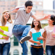 Students having fun Students having fun — Stockfoto