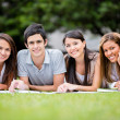 Group of students outdoors Group of students outdoors — Stock Photo #15949859