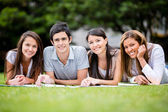 Group of students outdoors Group of students outdoors — Stock Photo