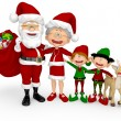 Royalty-Free Stock Photo: 3D Christmas family 3D Christmas family