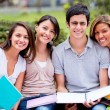 Happy group of students Happy group of students — Stockfoto