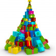 Stock Photo: 3D Christmas tree 3D Christmas tree