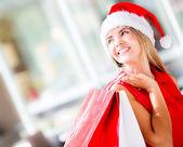 Compras de natal compras de natal — Foto Stock