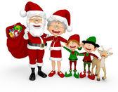 3D Christmas family 3D Christmas family — Stock Photo