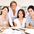 Group of university students Group of university students — Stock Photo #16209673