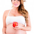 Pregnant woman eating healhty Pregnant woman eating healhty — Stock Photo #16209705