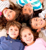 Happy group of kids Happy group of kids — Stock Photo