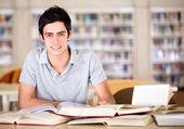 Happy university student Happy university student — Stock Photo