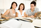Group of dedicated students Group of dedicated students — Stock Photo