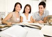 Grupo de estudiantes dedicados de estudiantes dedicados — Foto de Stock