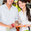 Couple grocery shopping Couple grocery shopping - Stock Photo