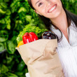 Woman healthy shopping Woman healthy shopping — Stock Photo