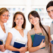 Group of university students Group of university students — Stock Photo #16319553
