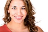 Retrato de mulher feliz de retrato de mulher feliz — Foto Stock