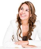 Pensive businesswoman Pensive businesswoman — Stock Photo