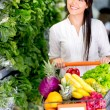 Woman grocery shopping Woman grocery shopping — Stock Photo #16567239