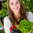 Female shopping organic Female shopping organic - Stockfoto