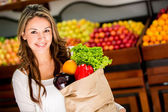 Woman grocery shopping Woman grocery shopping — Φωτογραφία Αρχείου