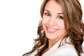 šťastné podnikání žena šťastná obchodní žena — Stock fotografie