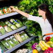 Woman grocery shopping Woman grocery shopping — Stock Photo #16651953