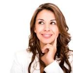 Thoughtful business woman Thoughtful business woman — Stock Photo
