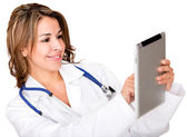 Doctor using a tablet computer Doctor using a tablet computer — Stock Photo
