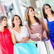 Royalty-Free Stock Photo: Women at the shopping center Women at the shopping center