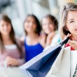 Happy shopping woman Happy shopping woman — Stock Photo #16797345
