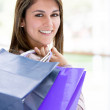 Beautiful shopping woman Beautiful shopping woman - Stock Photo