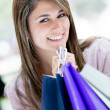 Beautiful shopping woman Beautiful shopping woman — Stock Photo