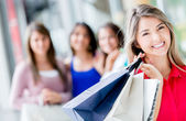 Happy shopping woman Happy shopping woman — Stock Photo