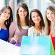Group of women shopping Group of women shopping — Stock Photo