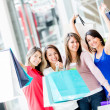 Happy shopping women Happy shopping women — Stock Photo