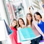 Happy shopping women Happy shopping women — Stock Photo