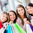 Group of shopping women Group of shopping women — Stock Photo