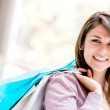 Shopping woman smiling Shopping woman smiling — Stock Photo