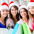 Christmas shopping Christmas shopping  — Stok fotoğraf