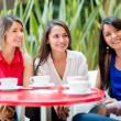 Women talking over coffee Women talking over coffee - Stock Photo