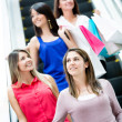 Women at a shopping center Women at a shopping center - Stock Photo