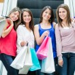 Girls at the shopping center Girls at the shopping center — Stock Photo #16963087