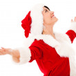 Happy female Santa with arms open Happy female Santa with arms open — Stock Photo #16963121