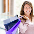 Happy female shopper Happy female shopper — Stock Photo #16963135