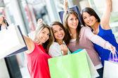Excited female shoppers Excited female shoppers — Stock Photo