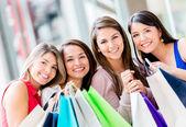 Group of shopping women Group of shopping women — Stock Photo