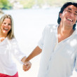 Royalty-Free Stock Photo: Happy couple at the beach Happy couple at the beach