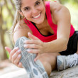 Woman working out at the park Woman working out at the park — Stock Photo #18948849