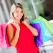 图库照片: Shopping womShopping woman