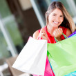 Happy female shopper Happy female shopper — Stock Photo #18948865