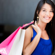 donna shopping shopping donna — Foto Stock